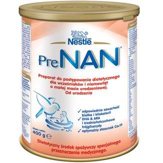 Nestle PreNan, preparat dla wcześniaków i niemowląt o małej masie urodzeniowej, 400 g - zdjęcie produktu