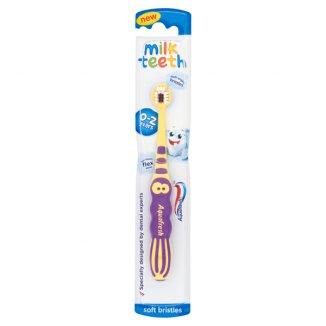Aquafresh, szczoteczka do zębów, Milk Teeth, 0-2 lat, 1 sztuka - zdjęcie produktu