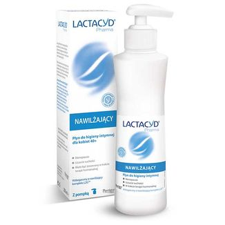 Lactacyd Pharma, nawilżający płyn do higieny intymnej dla kobiet 40+, 250 ml  - zdjęcie produktu