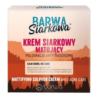 Barwa Siarkowa, krem matujący, antybakteryjny, 50 ml - zdjęcie produktu