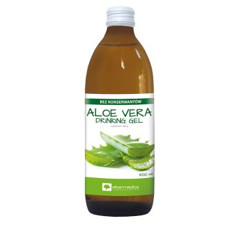 Alter Medica Aloe Vera Drinking Gel, sok z aloesu, 500 ml - zdjęcie produktu