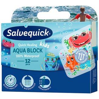 Plastry Salvequick, Aqua Block Kids, 12 sztuk - zdjęcie produktu