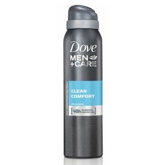 Dove, Men + Care, antyperspirant w aerozolu, Clean Comfort, 150 ml - zdjęcie produktu