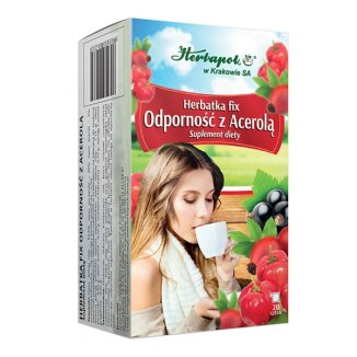 Herbapol Odporność z Acerolą, herbatka fix, 20 saszetek - zdjęcie produktu