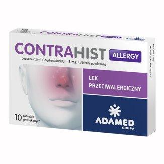 Contrahist Allergy 5 mg, 10 tabletek powlekanych - zdjęcie produktu