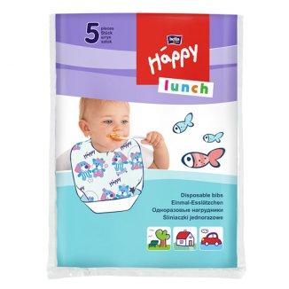 Bella Baby, śliniaki jednorazowe, Happy Lunch, 5 sztuk - zdjęcie produktu