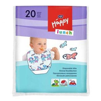 Bella Baby, śliniaki jednorazowe, Happy Lunch, 20 sztuk - zdjęcie produktu