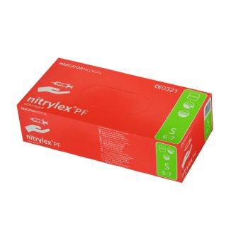 Nitrylex PF Collagen, ręawice nitrylowe, niejałowe, niepudrowane, rozmiar S, 100 sztuk - zdjęcie produktu