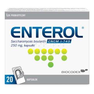 Enterol 250 mg, 20 kapsułek - zdjęcie produktu