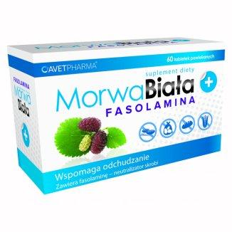 AvetPharma Morwa Biała Plus Fasolamina, 60 tabletek - zdjęcie produktu