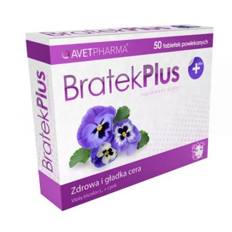 AvetPharma Bratek Plus, 50 tabletek - zdjęcie produktu