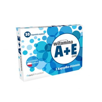 AvetPharma Witamina A+E, 30 kapsułek - zdjęcie produktu