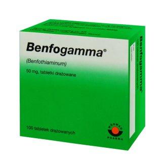 Benfogamma 50 mg, 100 tabletek drażowanych - zdjęcie produktu