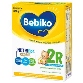 Bebiko 2R Nutriflor Expert, mleko następne z kleikiem ryżowym, powyżej 6 miesiąca, 800 g - zdjęcie produktu
