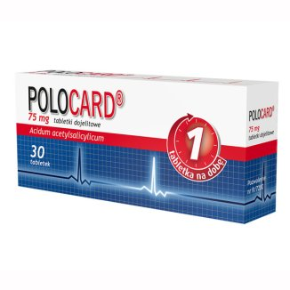 Polocard 75 mg, 30 tabletek - zdjęcie produktu