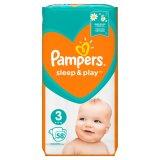 Pampers Sleep&Play, pieluchy rozmiar 3, Midi, 6-10 kg, 58 sztuk - miniaturka zdjęcia produktu