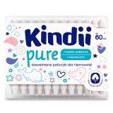 Cleanic Kindii Pure, bawełniane patyczki dla niemowląt, 60 sztuk - miniaturka zdjęcia produktu