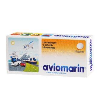 Aviomarin 50 mg, 10 tabletek - zdjęcie produktu