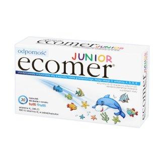 Ecomer Junior, smak tutti frutti, 30 kapsułek do żucia - zdjęcie produktu