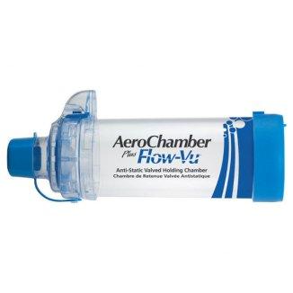 AeroChamber Plus Flow-Vu, komora inhalacyjna z ustnikiem, niebieska - zdjęcie produktu