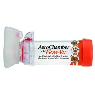 AeroChamber Plus Flow-Vu, komora inhalacyjna z maską dla niemowląt, 0-18 miesiący, Small, 1 sztuka - zdjęcie produktu