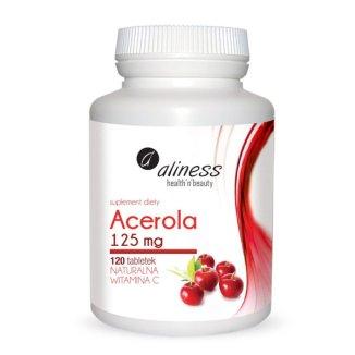Aliness Acerola Naturalna Witamina C 125 mg, 120 tabletek - zdjęcie produktu