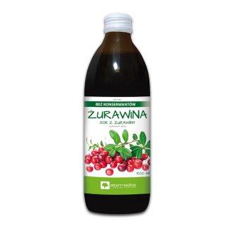 Alter Medica, sok z żurawiny 100%, 500 ml - zdjęcie produktu