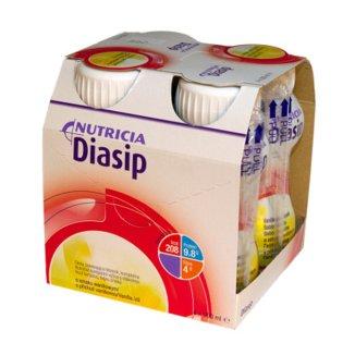 Diasip, preparat odżywczy dla diabetyków, smak waniliowy, 4 x 200 ml - zdjęcie produktu