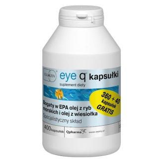 Equazen Eye Q, 360 kapsułek + 40 kapsułek gratis - zdjęcie produktu