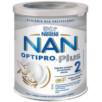 Nestle NAN Optipro Plus 2 HM-O, mleko następne dla niemowląt powyżej 6 miesiąca, 800 g KRÓTKA DATA - zdjęcie produktu
