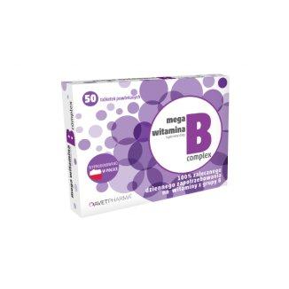 AvetPharma Mega Witamina B Complex, 50 tabletek powlekanych - zdjęcie produktu
