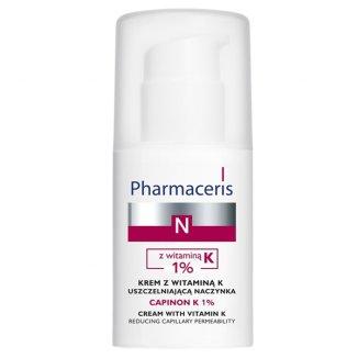 Pharmaceris N Capinon K 1%, krem z witaminą K uszczelniającą naczynka, 30 ml - zdjęcie produktu