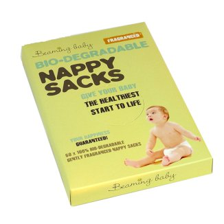 Beaming Baby, woreczki na zużyte pieluchy, biodegradowalne, zapachowe, 60 sztuk - zdjęcie produktu