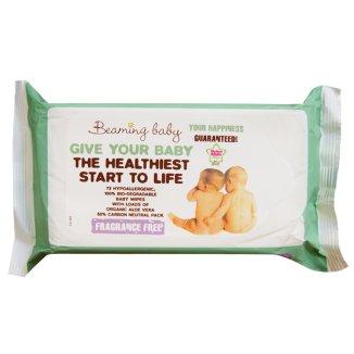 Beaming Baby, organiczne chusteczki nawilżane, bezzapachowe, 72 sztuki - zdjęcie produktu
