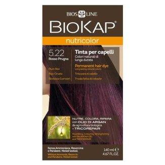 Biokap Nutricolor, farba koloryzująca do włosów, 5.22 śliwkowa czerwień, 140 ml - zdjęcie produktu