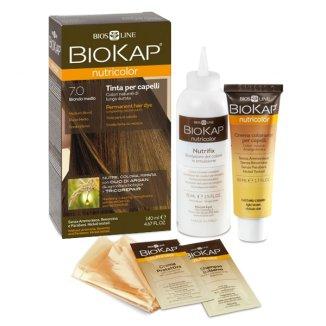 Biokap Nutricolor, farba koloryzująca, 7.0 średni blond, 140 ml - zdjęcie produktu
