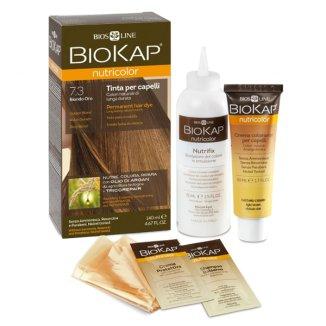 Biokap Nutricolor, farba koloryzująca do włosów, 7.3 złoty blond, 140 ml - zdjęcie produktu