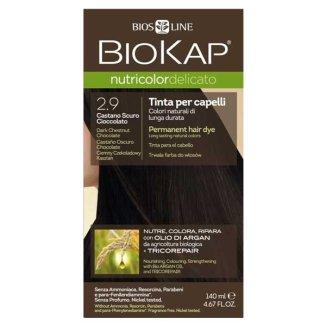 Biokap Nutricolor Delicato, farba koloryzująca do włosów, 2.9 ciemny czekoladowy kasztan, 140 ml - zdjęcie produktu