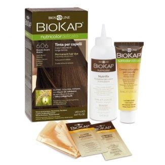 Biokap Nutricolor Delicato, farba koloryzująca, 6.06 ciemny blond, 140 ml - zdjęcie produktu