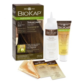 Biokap Nutricolor Delicato, farba koloryzująca, 6.3 ciemny złoty blond, 140 ml - zdjęcie produktu