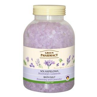 Green Pharmacy, sól do kąpieli, rozmaryn i lawenda, 1,3 kg - zdjęcie produktu