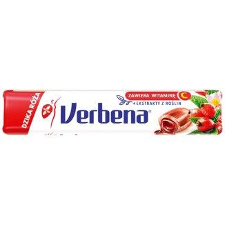 Verbena Dzika róża, cukierki ziołowe z witaminą C, 32 g - zdjęcie produktu
