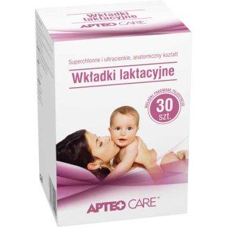 Apteo Care, wkładki laktacyjne, 30 sztuk - zdjęcie produktu