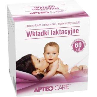 Apteo Care, wkładki laktacyjne, 60 sztuk - zdjęcie produktu