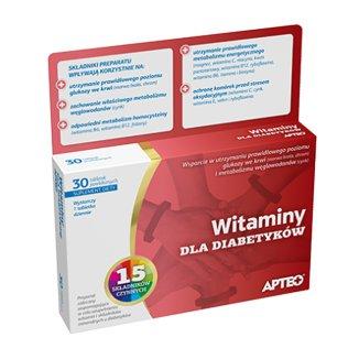 Apteo Witaminy dla diabetyków, 30 tabletek powlekanych - zdjęcie produktu