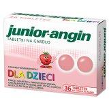 Junior-angin, dla dzieci od 4 lat, smak truskawkowy, 36 tabletek do ssania - miniaturka zdjęcia produktu