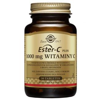 Solgar Ester C Plus 1000 mg Witaminy C, 30 tabletek - zdjęcie produktu