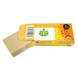 Powrót do natury, naturalne mydło z woskiem pszczelim, 100 g - zdjęcie produktu