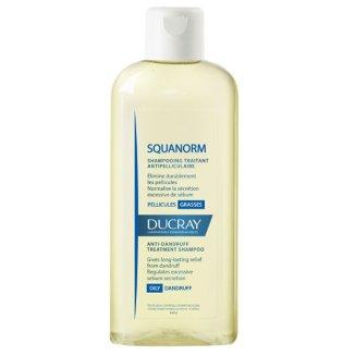 Ducray Squanorm, szampon przeciwłupieżowy, łupież tłusty, 200 ml - zdjęcie produktu