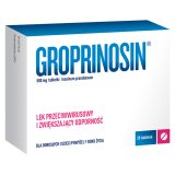 Groprinosin 500 mg, 20 tabletek - miniaturka zdjęcia produktu